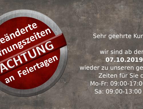 Öffnungszeiten zum Tag der Deutschen Einheit