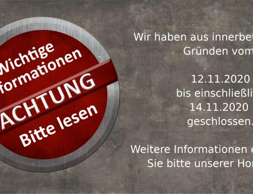 Öffnungszeiten 12.11.2020 bis 14.11.2020